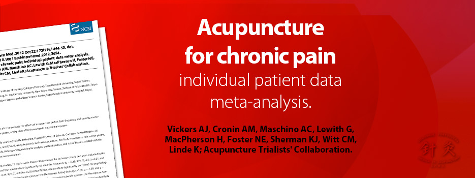 Acupuncture for chronic pain: individual patient data meta ...